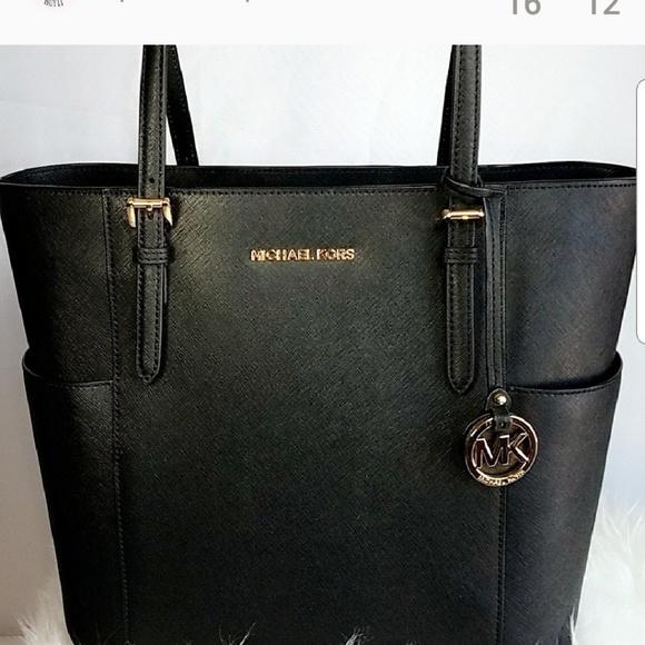 f1c814b53370b Michael kor Jet set travel tote bag